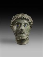 Head of male with inlaid eyes 'Marcus Aurelius', 2nd century. Artist: Unknown.