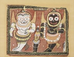 The Jagannatha Trio, 19th century. Artist: Unknown.