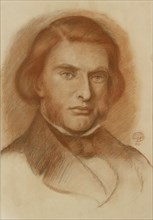 Portrait of John Ruskin, 1861. Artist: Dante Gabriel Rossetti.