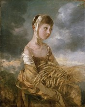 Margaret Gainsborough gleaning, late 1750s. Artist: Thomas Gainsborough.