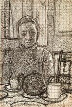 Mrs Mounter at the breakfast Table, 1916-1917. Artist: Harold Gilman.