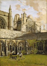 Cloisters at New College, Oxford, late 19th century. Artist: John Fulleylove.