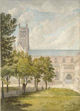 Worcester Cathedral, probably 1774. Artist: John Baptist Malchair.