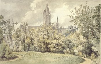 Christ Church Cathedral from the Dean's Garden, 10 June 1775. Artist: John Baptist Malchair.