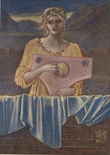 Study of a Woman with a Musical Instrument, 1895. Artist: Sir Edward Coley Burne-Jones.