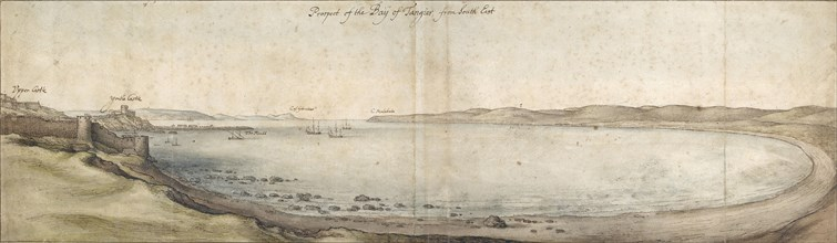 Prospect of the Bay of Tangier from the south-east, mid 17th century. Artist: Wenceslaus Hollar.