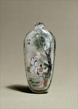 Snuff bottle depicting a scene from Strange Tales of a Scholar's Studio, early 20th century. Artist: Ye Zhongshan.