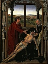 The Piety', table of a triptych by Roger van der Weyden.