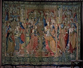 'Episodes from the Life of the Virgin', tapestry documented in 1509. 'The fulfillment of prophec?