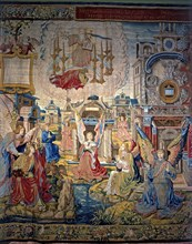 The Revelations', a collection of eight panels woven in Brussels in the sixteenth century. 'Saint?