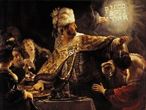 'Belshazzar's Feast', c. 1639 by Rembrandt.