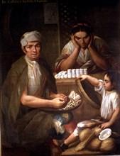 Castas, from castizo and mestiza: chamizo (Mixed races in Spanish America). Family around the fat?