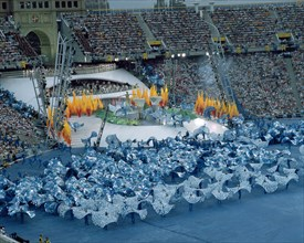 Performance of Fura dels Baus in the opening ceremony of the 1992 Olympic Games in Barcelona.
