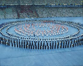 Sevillana dancers and music bands in the opening ceremony of the 1992 Barcelona Olympic Games.