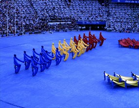 Performance of Fura dels Baus in the spectacle of the opening ceremony of the 1992 Barcelona Olym?