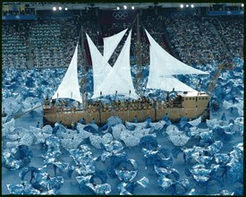 Show of the Fura dels Baus in the opening ceremony of the 1992 Olympic Games in Barcelona.
