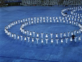 Sardana dance during the opening ceremony of the 1992 Barcelona Olympic Games.