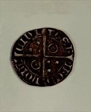 Reverse of a Cruzado in silver, reign of Peter III the ceremonious. Mint: Zaragoza..