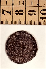 Reverse of an Alfonsín in silver, reign of Peter III the Cerimonious. Mint: Sardinia.
