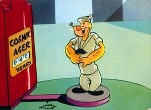 Popeye, the cartoon character created by EC Segar.