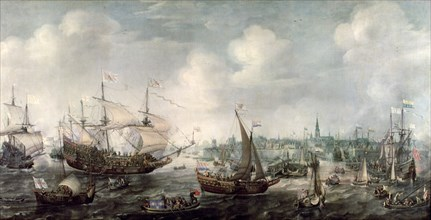 Arrival of Frederick V of the Palatinate to Vlissingen, 5th May 1613.