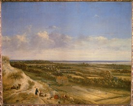 View of Haarlem from the dunes.