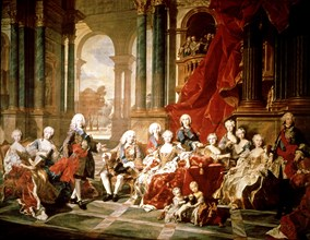 The family of Philip V, Oil by Louis Van Loo.