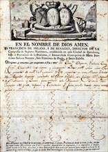 Insurance policy issued by the 'Compañía de Seguros Marítimos de Barcelona' (Marine Insurance Com?