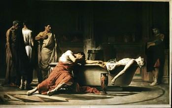 Death of Séneca, that after opening the veins gets into a bath,' Lucius Annaeus Séneca (4 BC-65 A?