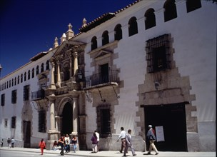 View of the façade of the Mint in Potosí (Bolivia).