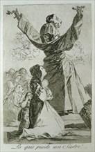 Los Caprichos, series of etchings by Francisco de Goya (1746-1828), plate 52: '¡Lo que puede un s?