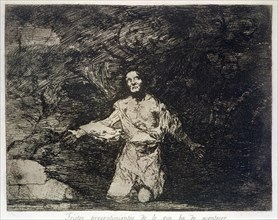 The Disasters of War, a series of etchings by Francisco de Goya (1746-1828), plate 1: 'Tristes pr?