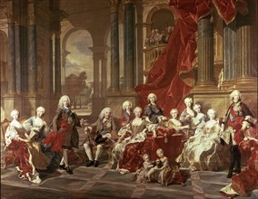 The family of Philip V, 1743, oil on canvas by Louis Van Loo.