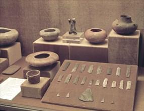 Grave goods found in the excavation of the town of Los Millares, Santa Fe de Mondújar, Almería: c?