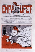 Cover of the comic 'En Patufet', weekly magazine, Barcelona, January, 1904. Núm.13.