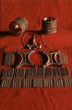 Treasury of Carambolo, bracelets and necklaces.
