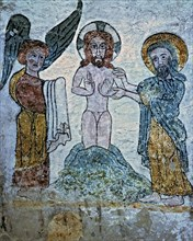 'Baptism of Christ', fresco in the treasury room of the cathedral of San Vicente Martyr in Roda ?