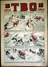 Cover of the child magazine TBO # 582, published in Barcelona in 1928.