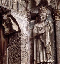 Western gate or door of the Majesty, detail of David, king of Israel (1010 - 975 a.C.), in the Co?