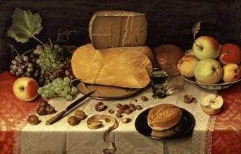 'Breakfast still life', by Floris van Dijck 1613.
