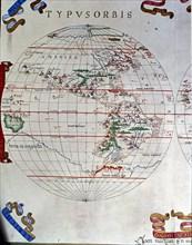 Atlas of Joan Martines, Messina, 1582. Portulan chart of the Americas.