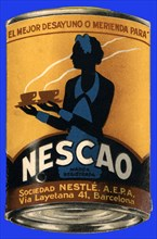 Advertising for Nescao, product of Nestle Company. Around 1930.