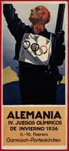 German tourist brochure. 4th Olympic Winter Games, Garmisch-Partenkirchen, 1936.