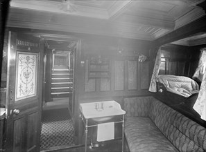 Cabin on the steam yacht 'Venetia', 1920. Creator: Kirk & Sons of Cowes.