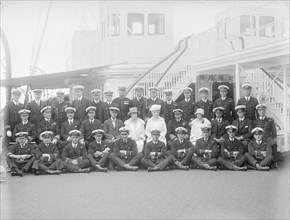 Queen Mary and King George V on board 'HMY Victoria and Albert', 1925. Creator: Kirk & Sons of Cowes.