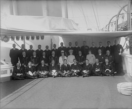 Queen Mary and King George V on board 'HMY Victoria and Albert', c1922. Creator: Kirk & Sons of Cowes.