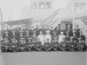 King George V and Queen Mary on board 'HMY Victoria and Albert', 1925. Creator: Kirk & Sons of Cowes.
