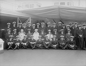 Queen Mary and King George V on board 'HMY Victoria and Albert', 1932. Creator: Kirk & Sons of Cowes.