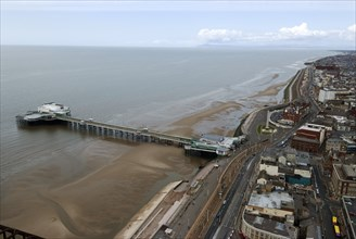 Blackpool, view from Tower, 2009. Creator: Ethel Davies.