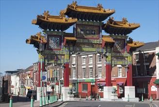 UK, Liverpool, Chinatown Arch, 2009. Creator: Ethel Davies.